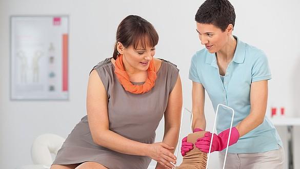 Auxiliares para calçar na profilaxia da trombose
